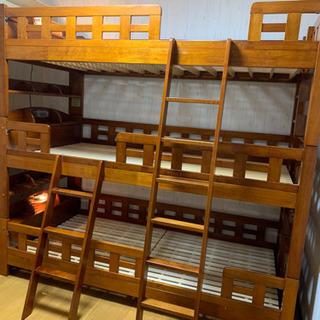 高級三段ベッド