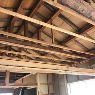 梁、屋根垂木、棟木