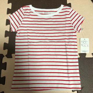 お値下げ【タグ付き未使用】ボーダー柄Tシャツ 95