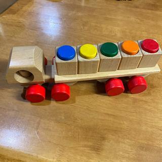 木のおもちゃ トレーラー