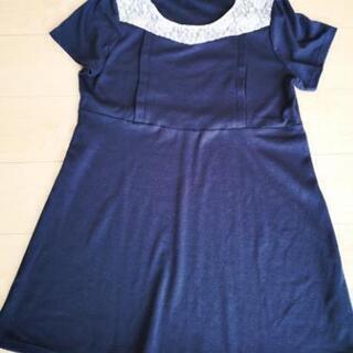【値下げ】3L 授乳服 紺