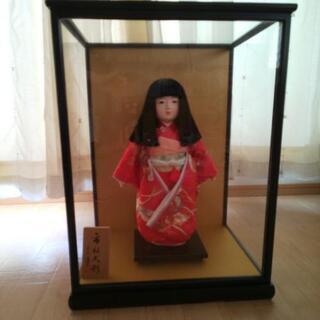 市松人形 ガラスケース付き