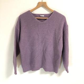 グラシア ニット 紫