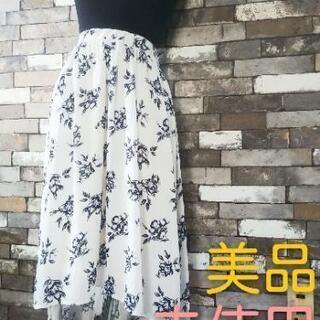 フレアスカート花柄