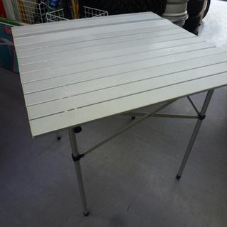 Coleman アルミロールテーブル 75×75 折りたたみテー...