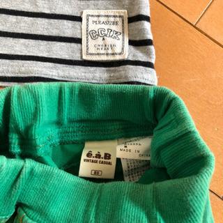 ❸80-90サイズ Tシャツと2ズボン