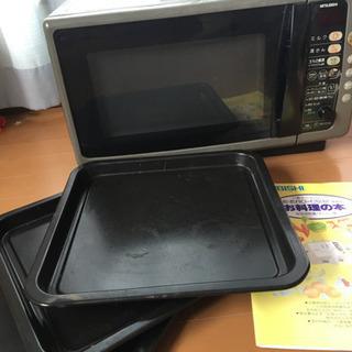 オーブン電子レンジ、鉄板、説明書付き