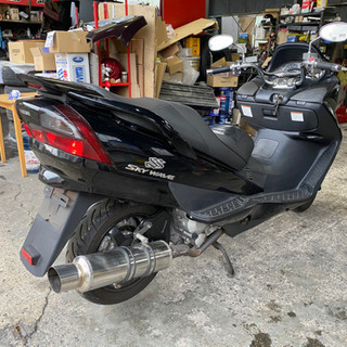 値下げ バイク スズキ スカイウェイブSS CJ43 マフラー、...