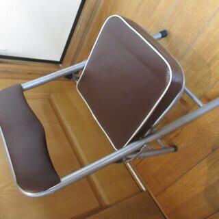 美品 折りたたみ椅子 ちょいがるチェア(ダークブラウン) …