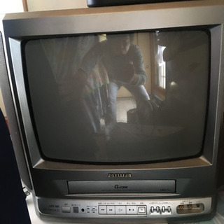 ビデオ付きブラウン管テレビジャンク品