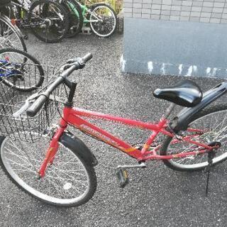 26インチ ギア付き自転車