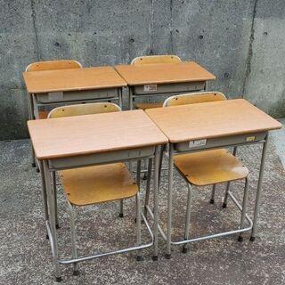 学校の机と椅子セット