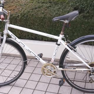 シティーサイクル / クロスバイク 自転車 前カゴ、タイヤカバー...