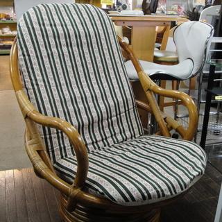 籐の椅子 回転チェア 1人掛けチェア ラタンチェア ハイバ…