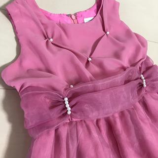 【ピンク付き】ドレス パニエ付き 発表会 パーティー 130cm