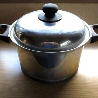 中国料理屋が使っていた、両手鍋 約23cm