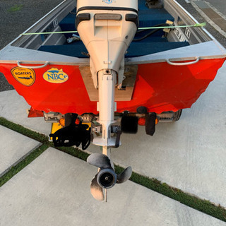 12フィート アルミバスボート トレーラー付き。