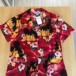 レディースMサイズ ハワイ土産アロハシャツ