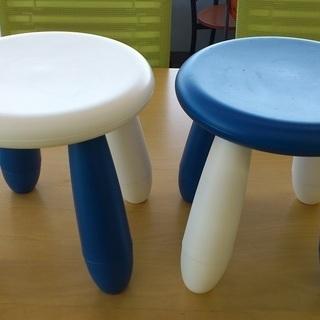 イケア プラスチック椅子 中古品 2個セット