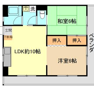 エレベーター付! ☆上下水道料金無料☆ 4階南角部屋!