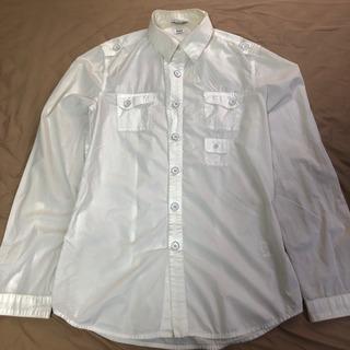 【ENERGY】モード感ある白のサファリシャツ/イタリア製/タグ...