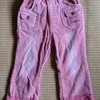 エクボのコーデュロイ 110サイズ ピンク