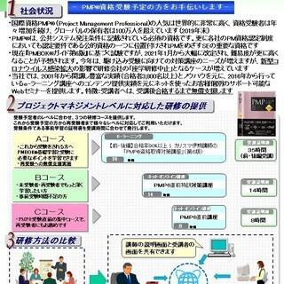【Webセミナー】PMP®資格取得対策講座(新型コロナウイルス感...