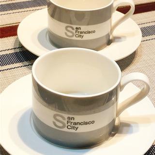 アメリカ風 コーヒーカップ 2点セット