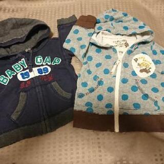 ◆80用 baby gap/フーセンウサギ  2点 パーカー