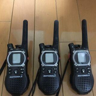 ★災害時用に★ モトローラ 無線機 3台 乾電池で使用可