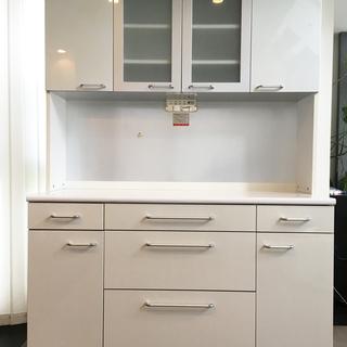 【終了】キッチン収納 キッチン棚 ホワイト/ 幅 140cm ×...