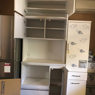電子レンジ トースター 炊飯器 置けます キッチン戸棚