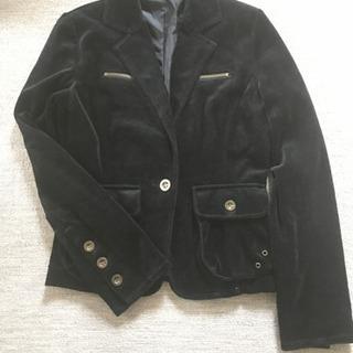 黒のベロア調 ジャケット Mサイズ