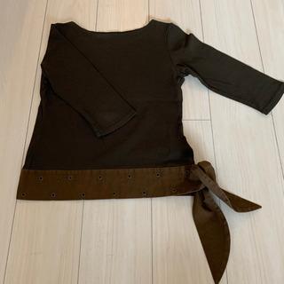 PUPULA 七分袖カットソー カーキ