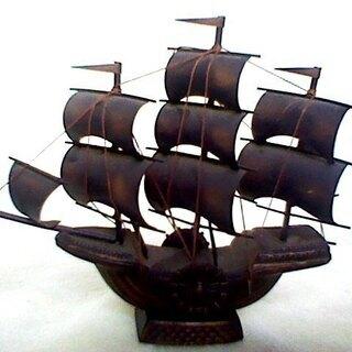 帆船 インテリア 50年以上前の作品 パイレーツオブカリビアン ...