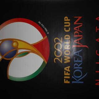 貴重品!サッカーファン必見❗️2002年日韓ワールドカップのポスター!