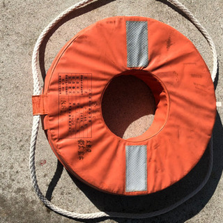 ボート 救命用 浮輪 検査認定品です