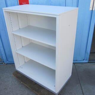 オープン書庫 ホワイト  天板付き inaba製
