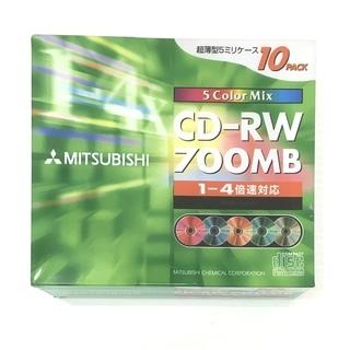 未使用品 三菱化学 CD-RW 700MB 10枚スリムケ-ス入...