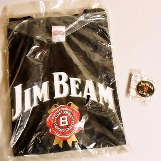 JIM BEAM Tシャツ 缶バッチ付き Lサイズ