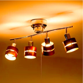 シーリングライト 4灯 LED対応 スポットライト レダ …
