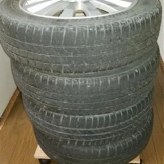 ダイハツ純正ホイール、タイヤ付き4本セット − 福島県