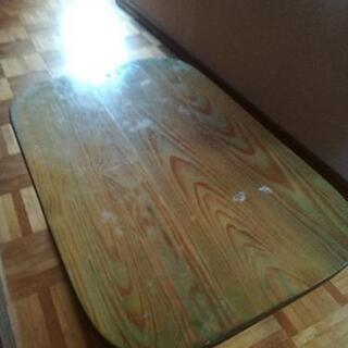 ★無料★【難あり】木製 折りたたみ テーブル 薄いグリーン
