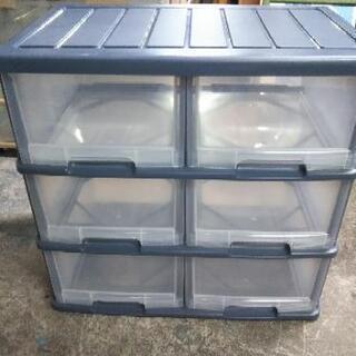 [3段2列衣装ケース]:リサイクルショップヘルプ