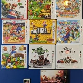 マリオ他3DSカセット中古まとめ売り 3千円