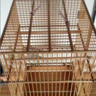 竹籠 鳥かご 未使用品