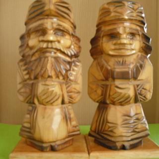 再値下げ!30cm 木彫り 願い事が叶うといわれている二ポポ人形...