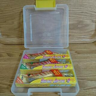 釣りエギング用の新品エギ3個ケース付きセットの画像