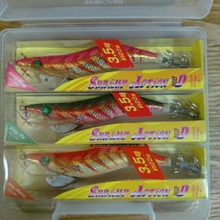 釣りエギング用の新品エギ3個ケース付きセット - 木更津市