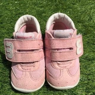 12.5cm ミキハウス 靴 ピンク ファーストシューズ セカン...